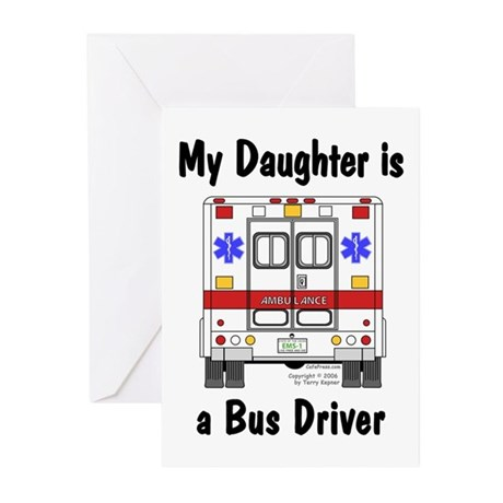 Bus Driver Daughter Greeting Cards (Pk of 10)