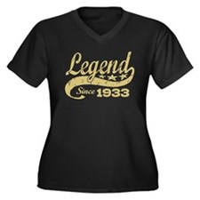 Legend Since 1933 Women's Plus Size V-Neck Dark T-