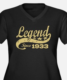 Legend Since 1933 Women's Plus Size V-Neck Dark T-