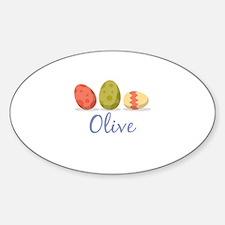 Easter Egg Olive Decal