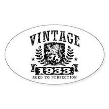 Vintage 1933 Decal