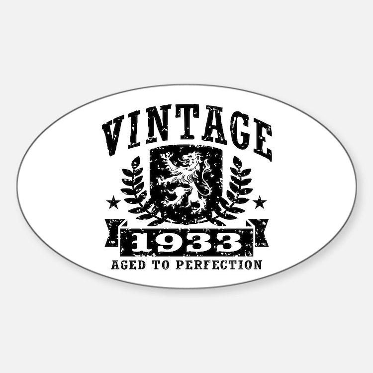 Vintage 1933 Sticker (Oval)