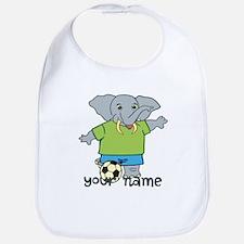 Personalized Soccer Elephant Bib