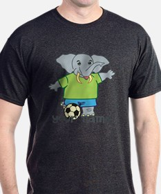 Personalized Soccer Elephant T-Shirt