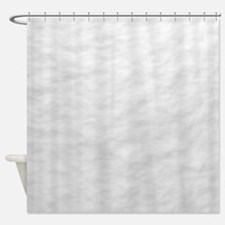 Pure White Snow Shower Curtain