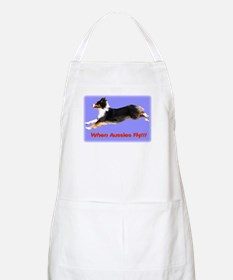 When Aussies Fly!!!  Black Tr BBQ Apron