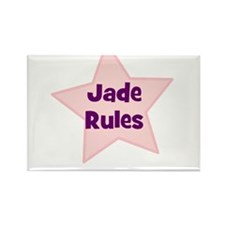 Jade Rules Rectangle Magnet