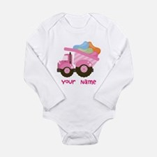 Personalized Jelly Bean Truck Long Sleeve Infant B