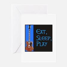 EAT,SLEEP,PLAY GUITAR Greeting Cards (Pk of 10