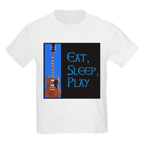 EAT,SLEEP,PLAY GUITAR Kids T-Shirt