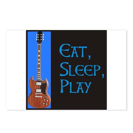 EAT,SLEEP,PLAY GUITAR Postcards (Package of 8)