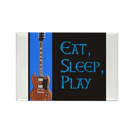 EAT,SLEEP,PLAY GUITAR Rectangle Magnet