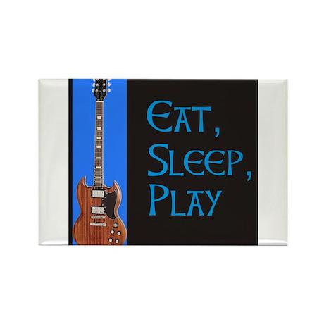 EAT,SLEEP,PLAY GUITAR Rectangle Magnet