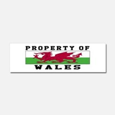 Property Of Wales Car Magnet 10 x 3