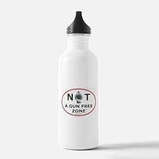 NOT A GUN FREE ZONE Water Bottle