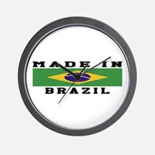 Brazil Made In Wall Clock