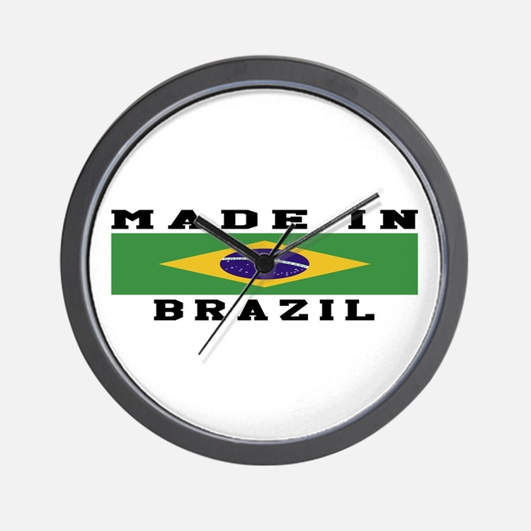 Brazil Made In Wall Clock