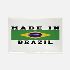 Brazil Made In Rectangle Magnet