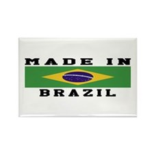 Brazil Made In Rectangle Magnet (10 pack)