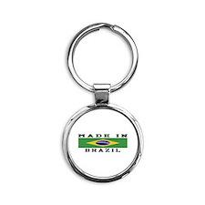 Brazil Made In Round Keychain