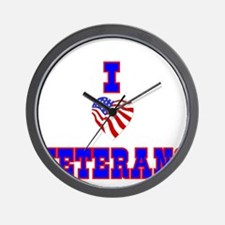 I love Veterans Wall Clock