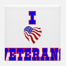 I love Veterans Tile Coaster