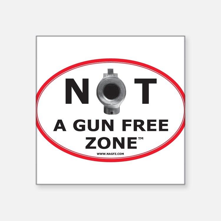NOT A GUN FREE ZONE Sticker
