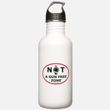 NOT A GUN FREE ZONE Water Bottle