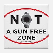 NOT A GUN FREE ZONE Tile Coaster