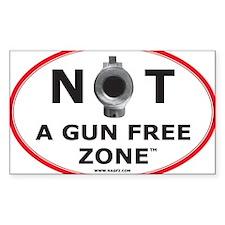 NOT A GUN FREE ZONE Decal