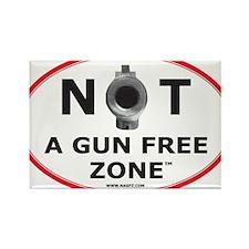 NOT A GUN FREE ZONE Rectangle Magnet