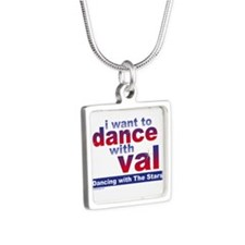 I Want to Dance with Val Silver Square Necklace