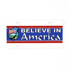 AMERICA FIRST Aluminum License Plate