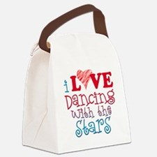I Love Dancing wtih the Stars Canvas Lunch Bag