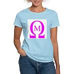 Omega Mu Women's Pink T-Shirt