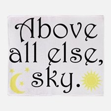 Above All Else Sky Throw Blanket