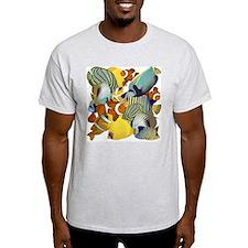 Fish Party Ash Grey T-Shirt