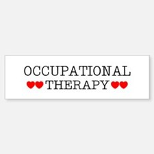 Occupational Therapy Hearts Bumper Bumper Bumper Sticker