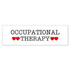 Occupational Therapy Hearts Bumper Bumper Sticker
