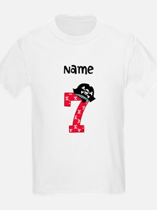 Pirate Seventh Birthday T-Shirt
