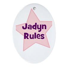Jadyn Rules Oval Ornament