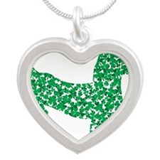 Doxie Made up of Shamrocks Necklaces