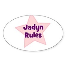 Jadyn Rules Oval Decal