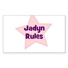 Jadyn Rules Rectangle Decal