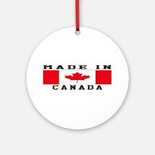 Canada Made In Ornament (Round)