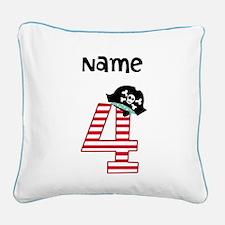 Pirate Fourth Birthday Pillow