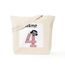 Pirate Fourth Birthday Tote Bag