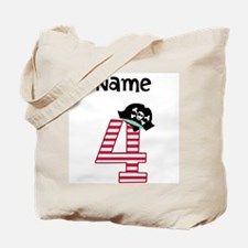 Pirate Fourth Birthday Tote Bag