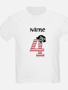 Pirate Fourth Birthday T-Shirt