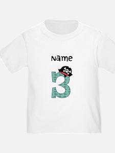 Pirate Third Birthday T-Shirt